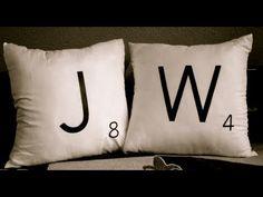 DIY Scrabble Pillows
