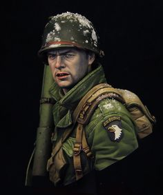 us-paratroopers battle for bastogne- artist Kirill Kanaev