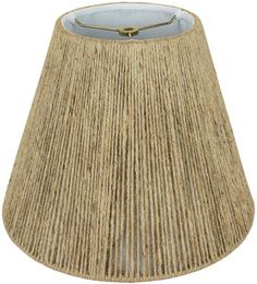 "Coarse Beige Hemp Rope Empire String Lamp Shade 14-20""W"
