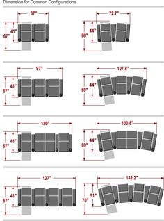 Palliser Home Theater Seating - Dimensions