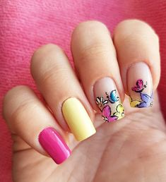 Domi Králiková (@domi_nailart) #sweet and #pink #nails to welcome #spring  Leave a comment if you love spring as I do #nailart #nailartlover #colorfulnails #springnails #springideas #springnailart #nailartist #nailartclub #butterflynailart #yellownails #flowernailart #flowernails #follow #beautifulnails #nailsideas #naildesign