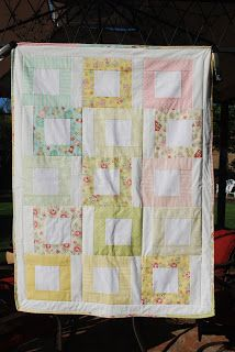Tumbling Block quilt in pastels Tumbling Blocks Quilt, Block Quilt, Handmade Baby Quilts, Memory Quilts, Forest Friends, Receiving Blankets, Pastels, Pretty In Pink, Stitches