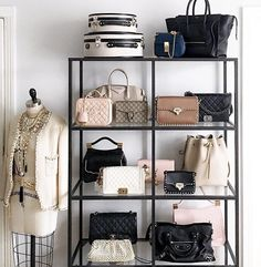Handbags U0026 Wallets   Handbags Wallets   Dream Closet Handbag Shelf Via  Margo And Me   How Should We Combine Handbags And Wallets?