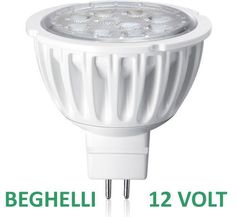 Set 5 Beghelli lampada a led 12 volt 4 watt base 5.3