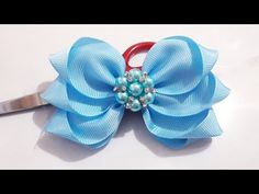 How to make a butterfly from a ribbon 🎀 Bows 🎀 for hair - Free Online Videos Best Movies TV shows - Faceclips Diy Lace Ribbon Flowers, Paper Flowers Craft, Diy Ribbon, Ribbon Crafts, Flower Crafts, Ribbon Bows, Fabric Flowers, Kanzashi Tutorial, Hair Bow Tutorial