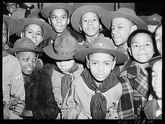 Scouts troop 446, Ida B. Wells Housing Project. Chicago, Illinois - March 1942.