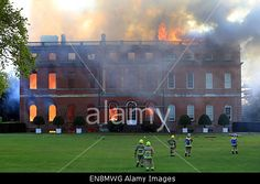 Guildford, Surrey, UK. 29th April, 2015. Fire at 18th century #ClandonPark mansion. The fire is believed to have been an electric fault in the basement which spread to the enitre building. © Oliver Dixon/Alamy Live News