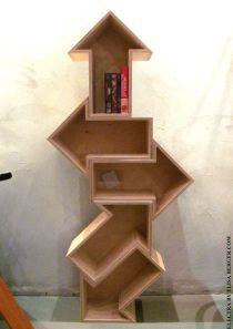 "[Arrow bookshelf (Via Rebecca Moore - ""Book Nooks"" board)] http://www.pinterest.com/rebeccamoore721/book-nooks/"