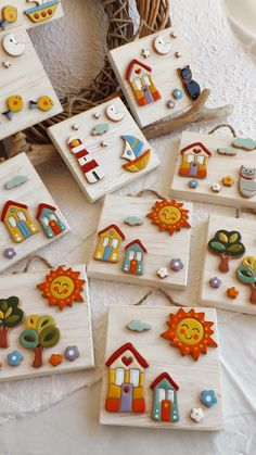 Stone Crafts, Rock Crafts, Diy And Crafts, Crafts For Kids, Arts And Crafts, Clay Art Projects, Polymer Clay Projects, Diy Clay, Art Drawings For Kids