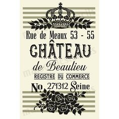 Euro Stencil Design ... CHATEAU de Beaulieu by EuroStencilDesigns