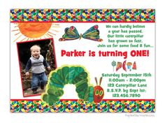 Very Hungry Caterpillar Invitation - Personalized Party Printable