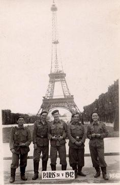 Spanish Blue Division in Paris, late 1942