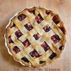 Berry Rhubarb Pie. Blueberries, strawberries, blackberries, raspberries, and rhubarb... You can't go wrong!