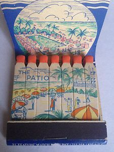 Vtg Feature Matchbook The White House Cabana Colony Pool The Patio Miami FL | eBay