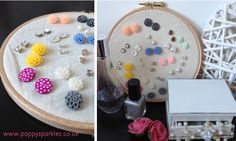 DIY // Easy Peasy Earring Holder - seriously easy and a great way to organise your stud earrings xo