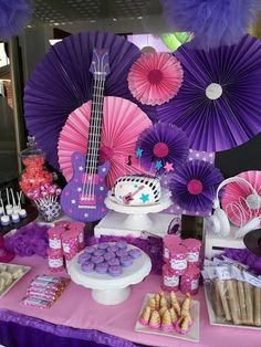 Fancy Eventos's Birthday / disney violetta - Photo Gallery at Catch My Party Rockstar Birthday, Dance Party Birthday, 9th Birthday Parties, Barbie Birthday, Barbie Party, 10th Birthday, Birthday Ideas, Karaoke Party, Music Party