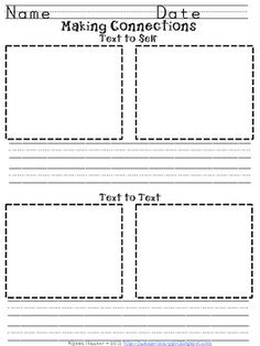 making connections sheet printable worksheet teaching ideas pinterest making connections. Black Bedroom Furniture Sets. Home Design Ideas