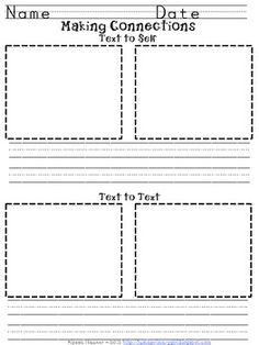 Making Connections Sheet - Printable Worksheet   Teaching ...