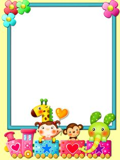 Frame for children PNG Free Frames And Borders, Boarders And Frames, Borders For Paper, Boarder Designs, Page Borders Design, School Binder Covers, School Border, Kindergarten Coloring Pages, Kids Background