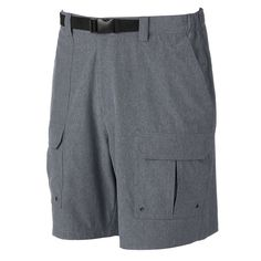 Men's Croft & Barrow® Outdoor Belted Cargo Stretch Shorts, Size: 34, Blue
