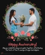 Add your photo into happy wedding anniversary photo frames. Wish anniversary in a romantic way. Best collection of happy anniversary photo frames available.