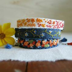 Unique Hand Embroidered Jewelry and Home Decor by Sidereal on Etsy