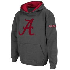 Alabama Crimson Tide Stadium Athletic Youth Big Logo Pullover Hoodie - Charcoal - $24.99