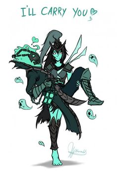 [[ cute but the supp carries the adc kek ]] Kalista and Thresh • League Of Legends Like & Repin. Thanks . Listen to Noelito Flow. Noel Music.