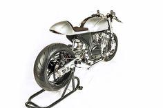 White Collar Bikes GSX750 Custom Motorcycle