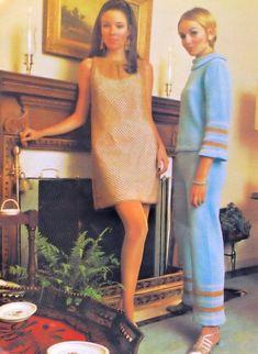 Fifties Fashion, Vintage Fashion, Vogue Vintage, 1970 Style, Shell Suit, Moda Retro, Knit Fashion, Mod Fashion, Fashion Ideas