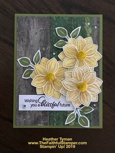 Homemade Birthday Cards, Homemade Cards, Stampin Up Anleitung, Beautiful Handmade Cards, Stamping Up Cards, Cata, Card Maker, Paper Cards, Flower Cards