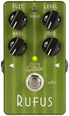 Suhr Rufus True-bypass fuzz pedal with 3-band EQ for guitar or bass - Vintage King Audio Bass Pedals, Guitar Pedals, Beautiful Guitars, Guitar Effects Pedals, Pedalboard, Fuzz, Music Stuff, Audio, Boxes