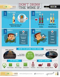 """Don't Drink The Wine If ... Wine Infographic www.LiquorList.com """"The Marketplace for Adults with Taste!"""" @LiquorListcom   #LiquorList.com"""