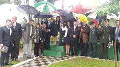 Con nuestra Extraordinaria Plenipotenciaria Embajadora Adela María Maestre Cuello y autoridades.