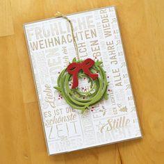 Instagram photo by @papier.werke The first Christmas card Stampin' Up! Merry Medley, Swirly Scribbles Thinlits, Everyday Jar Framelits http://katharinapradel.blogspot.com/2016/09/september-09-2016-at-0647pm.html