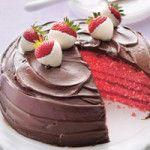 Çikolatalı ve Çilekli Kek Tarifi