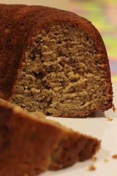 BEST banana bundt cake.  If you have brown bananas you must make this...better than any banana bread or any banana anything!