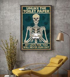 Skeleton unlike the toilet paper poster canvas Halloween Wall Decor, Halloween Gifts, Country Halloween, Feral Kittens, Outdoor Cats, 7 Year Olds, Take A Nap, Go Outside, Toilet Paper