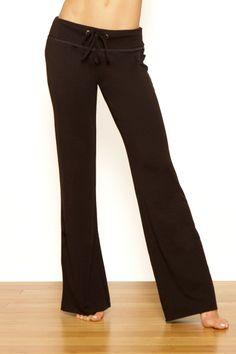 Foldover Black Yoga Pants Pranayama by Jala Clothing | Yoga