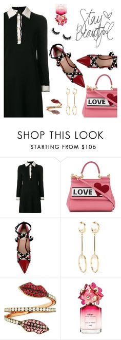 """""""Outfit of the Day"""" by dressedbyrose ❤ liked on Polyvore featuring Gucci, Dolce&Gabbana, Valentino, Chloé, Delfina Delettrez, Marc Jacobs, Artémes, ootd and polyvoreeditorial"""