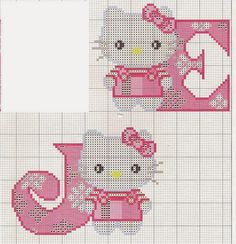 Oh my Alfabetos!: Alfabeto de Hello Kitty para punto de cruz.