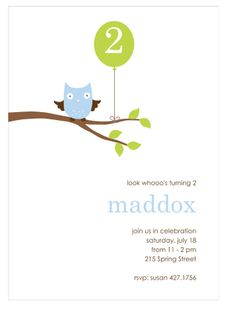 Whooo's Party (Blue) Party Invitation | Paper & Pearl