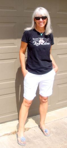 I love this woman's blog!!  And I have the tee shirt to prove it!  http://www.rockthesilver.com/