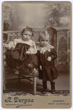 Children, Western Australia - Cabinet Card circa 1890s