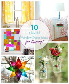 Dollar Store Crafts » Blog Archive » 10 DIY Window Dressings to Bring in the Spring
