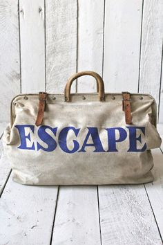 ESCAPE Canvas Utility Bag | Weekend trips, Bag and Canvases