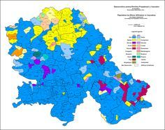 Ethnic map of Vojvodina based on the 2011 settlement data