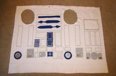 Detailing on the R2D2 costume