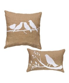 Look what I found on #zulily! Bird Decorative Pillow - Set of Two #zulilyfinds