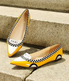 Kate Spade New York Go Taxi Leather Flats | Buy ➜ http://shoespost.com/kate-spade-new-york-go-taxi-leather-flats/